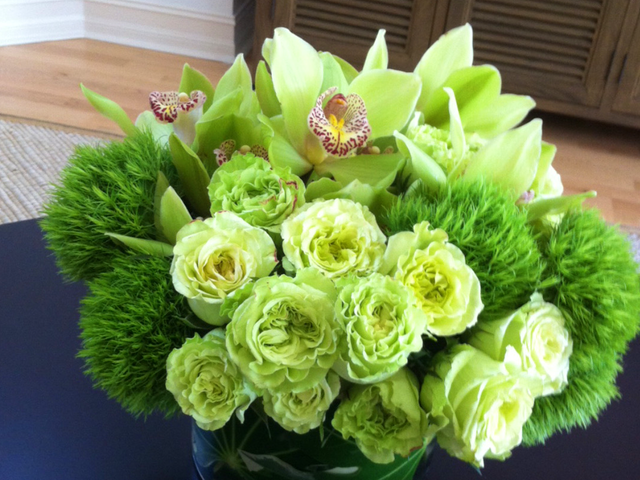 Small Green TablePiece Velene's Floral