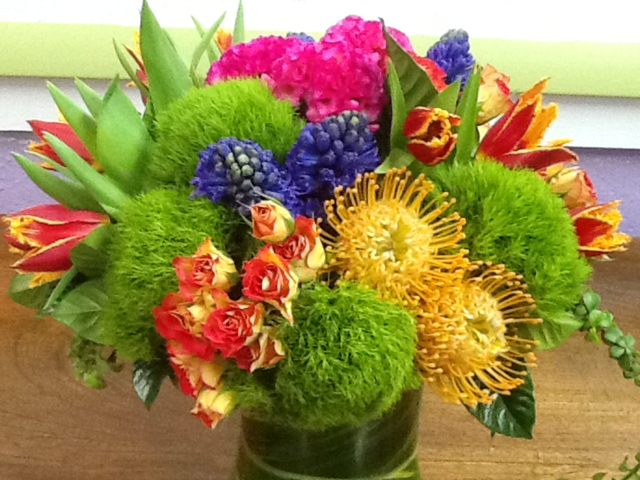 Rainbow Multi-Floral Arrangement Velene's Floral