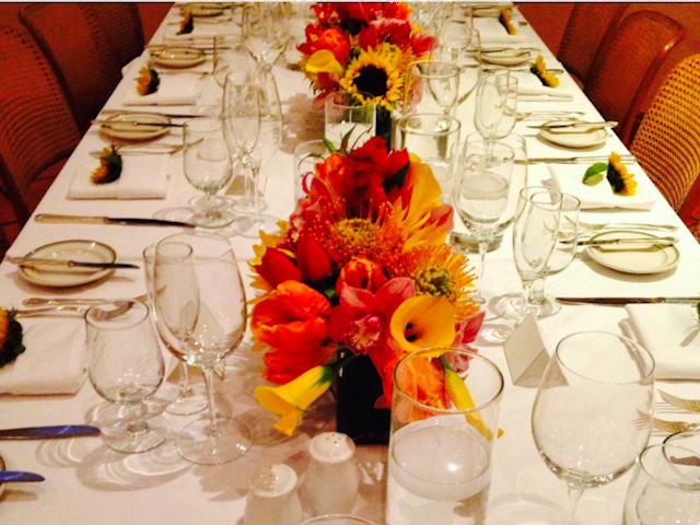Restaurant Setting Velene's Floral