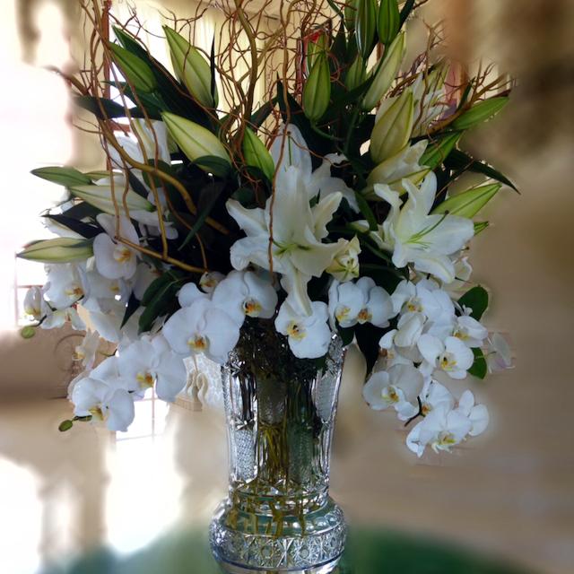 Large White Bloom Centerpiece Velene's Floral