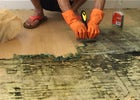Smile Clean BKK - Cleaning and polishing the floor after removing the carpet in a laminated floor at Wattana, Bangkok