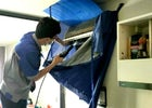 Smile Clean BKK - Fix an air-con leaking problem at Udomsuk, Bangkok