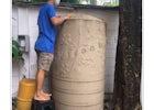 Smile Clean BKK - Cleaning a dirty water tank at Prakhanong, Bangkok
