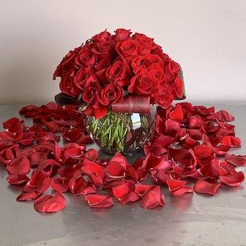 Rose Petals flowing out Velene's Floral