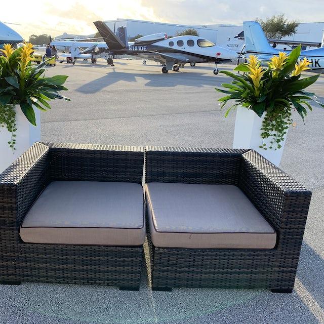 Private Jet Show Setup Velene's Floral