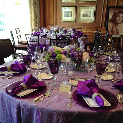 Purple Themed Event Decor and Flowers