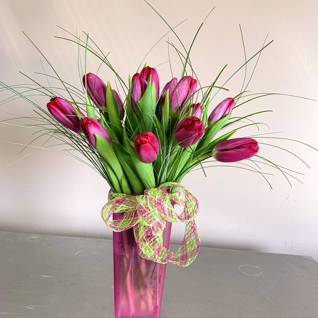 Fuscia Tulips Velene's Floral