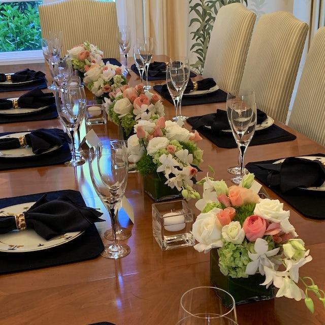 Dinner Table Floral Arrangements Velene's Floral