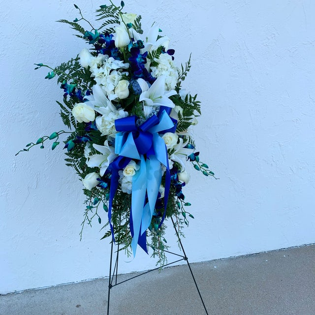A Range of Blues, Funeral Piece Velene's Floral