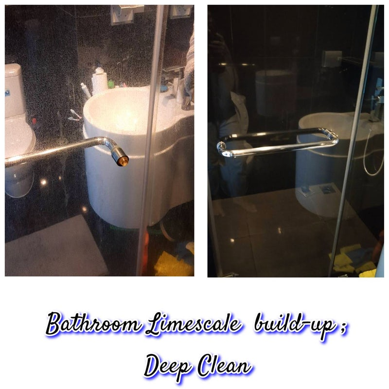 Successfully carried out a deep cleaning of limescale that was built-up in our busy customers bathroom, at Sukhumvit 38, Bangkok.