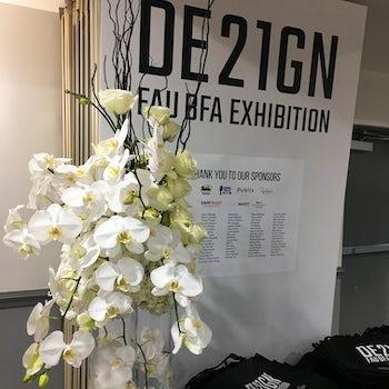 Tall White Orchids for Event Velene's Floral
