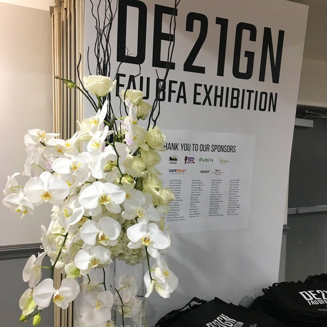Tall White Orchids for Event Velene's Floral