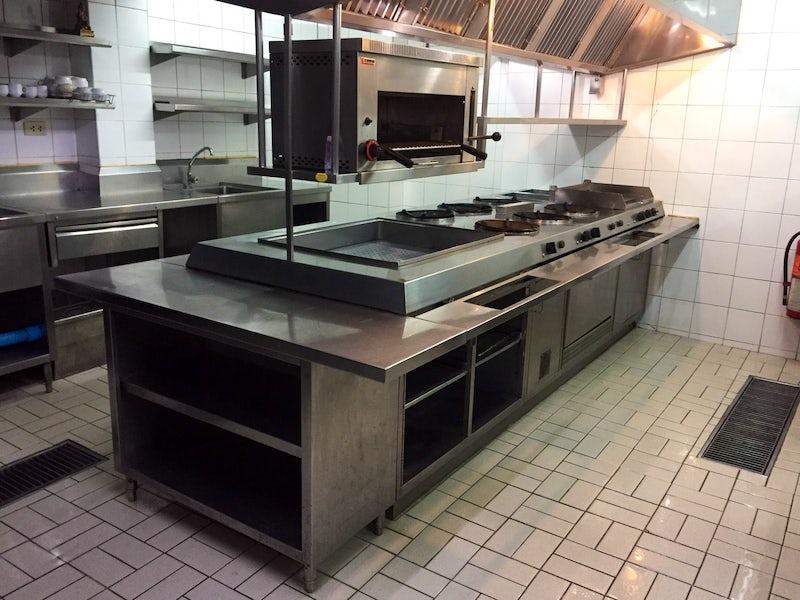 Deep cleaning the restaurant kitchen before re-open at Nana, Bangkok