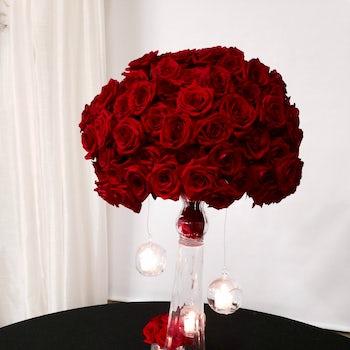 Dark Red Rose Floral Arrangement Velene's Floral