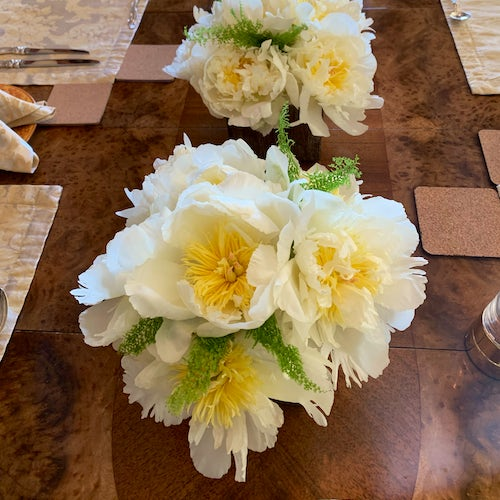 Bountiful Florals, On Dining Table