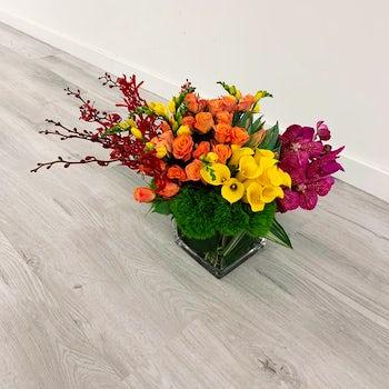 Bright Warm Toned Floral Arangement Velene's Floral