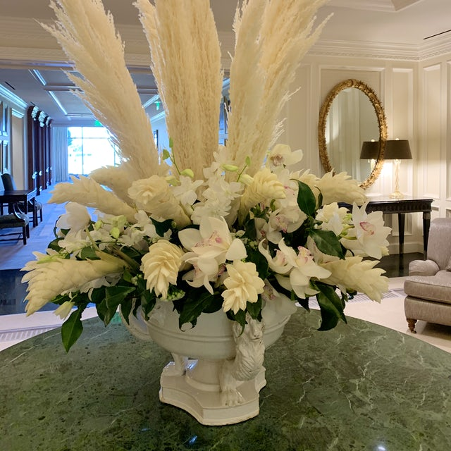 Grand White Floral Centerpiece Velene's Floral