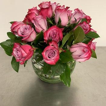 Light to Dark Pink Roses Velene's Floral